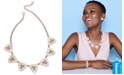 """Charter Club Rose Gold-Tone Crystal & Stone Cluster Statement Necklace, 17"""" + 2"""" extender, Created for Macy's"""