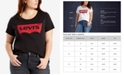Levi's Trendy Plus Size  Batwing Plus Size Graphic Logo T-Shirt