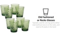 Certified International Green Diamond Acrylic 8-Pc. Double Old Fashioned Glass Set