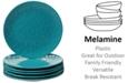 Certified International 6-Pc. Teal Melamine Salad Plate Set