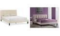 Furniture Yzebel Queen Platform Bed, Quick Ship