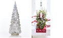 Martha Stewart Collection LED Antique Silver Finish Glass Tree, Created for Macy's