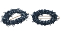 The Finest Accessories France Luxe Gold-Tone Denim Oval Tige Boule Hair Clip