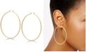 """GUESS 2 3/4"""" Textured Large Hoop Earrings"""