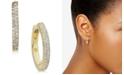 kate spade new york  Pavé Huggie Hoop Earrings