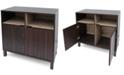 Noble House Nicholas 2-Shelf Cabinet, Quick Ship