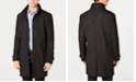 DKNY Men's Slim-Fit Geometic Pattern Raincoat