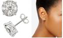 Macy's Diamond Cluster Stud Earrings (2 ct. t.w.) in 14k White Gold