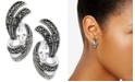 Macy's Cubic Zirconia & Marcasite Swirl Stud Earrings in Fine Silver-Plate