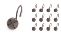 Elegant Home Fashions Shower Hooks - Forget Me Not - Oil Rubbed Bronze