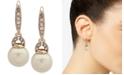 Lauren Ralph Lauren Gold-Tone Pavé & Imitation Pearl Drop Earrings