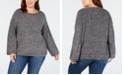 Style & Co Plus Size Relaxed Marled Sweater, Created for Macy's