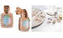 Le Vian Opal (1-3/4 ct. t.w.) & Diamond (5/8 ct. t.w.) Drop Earrings in 14k Rose Gold