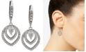 Jenny Packham Crystal Openwork Drop Earrings