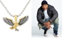 """LEGACY for MEN by Simone I. Smith Two-Tone Eagle 24"""" Pendant Necklace in Stainless Steel & Yellow and Black Ion-Plate"""