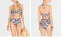 SUNDAZED Printed Willa Twist One-Piece Swimsuit