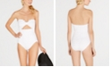 kate spade new york Scalloped Strapless One-Piece Swimsuit