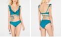 SUNDAZED Ruffled Bikini Top & Bottoms, Created for Macy's