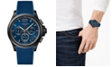 Longines Men's Swiss Chronograph Conquest V.H.P. Blue Rubber Strap Watch 42mm