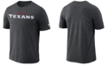 Nike Men's Houston Texans Dri-FIT Cotton Essential Wordmark T-Shirt