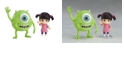 Ultra Tokyo Good Smile Monsters, Inc. Mike And Boo Standard Version Nendoroid Action Figure Set