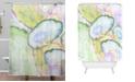 Deny Designs Iveta Abolina Agate Dreams I Shower Curtain