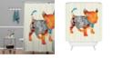Deny Designs Iveta Abolina White Floral Shower Curtain
