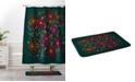 Deny Designs Iveta Abolina Silent Night Green Bath Mat