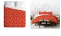 Deny Designs Holli Zollinger Mod Circuit Red Queen Duvet Set