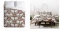 Deny Designs Holli Zollinger Elephant And Umbrella Queen Duvet Set