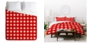 Deny Designs Holli Zollinger Red Gingham King Duvet Set