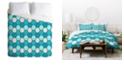 Deny Designs Holli Zollinger Ocean Tile Queen Duvet Set