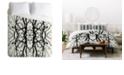 Deny Designs Holli Zollinger Tree Silhouette Black Queen Duvet Set