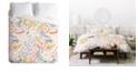Deny Designs Heather Dutton Floral Brush Queen Duvet Set