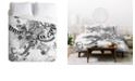 Deny Designs Iveta Abolina Black And White Play Twin Duvet Set