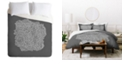Deny Designs Iveta Abolina Study in Gray II Queen Duvet Set