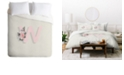 Deny Designs Iveta Abolina Pivoine W Queen Duvet Set