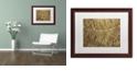 "Trademark Global Cora Niele 'Sepia Leaf Texture' Matted Framed Art, 16"" x 20"""