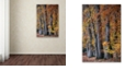 "Trademark Global Cora Niele 'Autumn Beeches II' Canvas Art, 30"" x 47"""