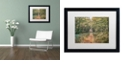 "Trademark Global Cora Niele 'Autumn Walk' Matted Framed Art, 16"" x 20"""