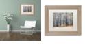 "Trademark Global Cora Niele 'Birches' Matted Framed Art, 11"" x 14"""