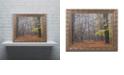 """Trademark Global Cora Niele 'Hazy Wood' Ornate Framed Art, 11"""" x 14"""""""