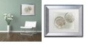 """Trademark Global Cora Niele 'Two King Scallop Shells' Matted Framed Art, 11"""" x 14"""""""