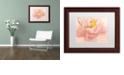 "Trademark Global Cora Niele 'Pink Peony' Matted Framed Art, 11"" x 14"""