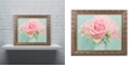 "Trademark Global Cora Niele 'Pink Roses' Ornate Framed Art, 16"" x 20"""