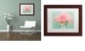 "Trademark Global Cora Niele 'Pink Roses' Matted Framed Art, 11"" x 14"""
