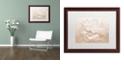 "Trademark Global Cora Niele 'White Peony' Matted Framed Art, 16"" x 20"""