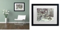 "Trademark Global Jenny Newland 'Bedding Down' Matted Framed Art, 16"" x 20"""