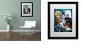 "Trademark Global Jenny Newland 'Puppies' Matted Framed Art, 16"" x 20"""