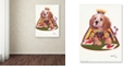 "Trademark Global Jenny Newland 'Queen Of Hearts' Canvas Art, 14"" x 19"""